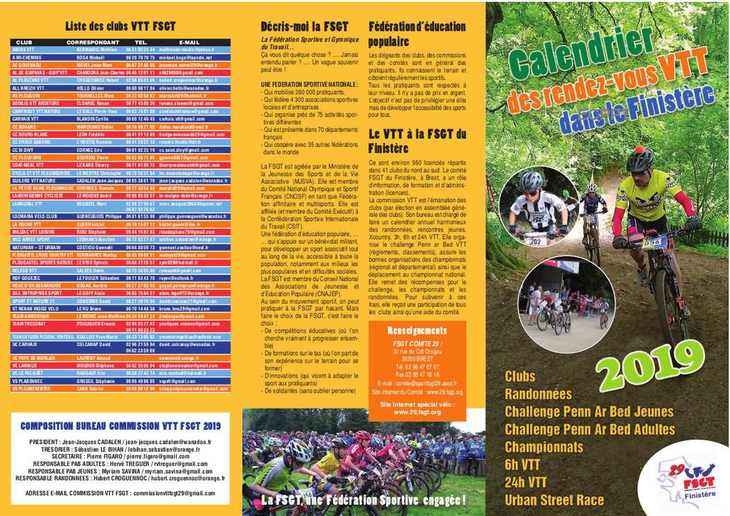 Calendrier Fsgt Cyclisme 2019.Fsgt Calendrier 2019 Vtt Ec Plestin Pays De Tregor
